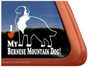 I Love My Bernese Mountain Dog High Quality Vinyl Berner Window Decal Sticker