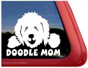 Doodle Mom Goldendoodle Labradoodle Vinyl Dog Window Decal Sticker