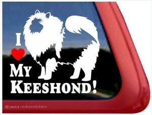 I Love My Keeshond High Quality Vinyl Dog Window Decal Sticker