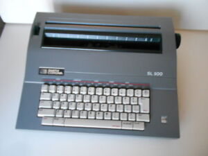 Smith Corona Sl500 Portable Electronic Typewriter W cover Manual Vgc