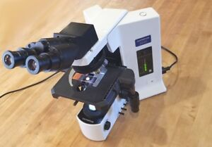 A Nice Olympus Bx51 Microscope With 4 Plan Objectives Bx 51 Bx40 Bx41 Bx50 Bx53