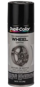 Duplicolor Hwp108 Gloss Black Coat Wheel And Rim Spray Paint Aerosol 12oz