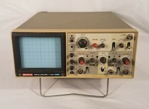 Hitachi Oscilloscope V 355 35 Mhz Testing Equipment Used Tested Works