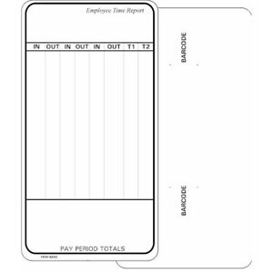 1000 Count Time Cards For Simplex Heritage Model 1404 Form 1950 9240