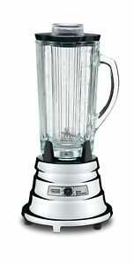 Waring Commercial Bb900g 1 2 Hp Chrome Bar Blender With 40 ounce Glass Contai