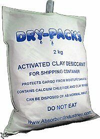 Container Cargo Dry With Hanging Hook By Dry packs 4 5lbs 2kg Desiccant