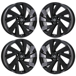 20 Fits Nissan Murano Black Wheels Rims Factory Oem 2015 2016 2017 2018 62707