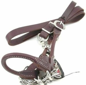 Weaver Rounded Leather Show Halter Lead For Cattle Medium 950 1500 Brown