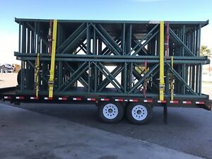 Pallet Rack Upright Frames Interlake 42 X 18 With 5 X 8 X 3 8 floor Plate