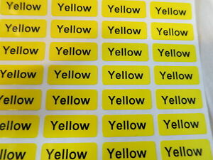 6000 Yellow Glossy Customized Waterproof Name Stickers Labels 0 9 X 2 2 Cm Tags