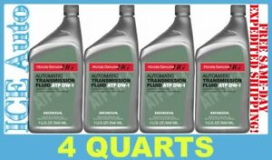 4 Pack Of Honda Atf Dw 1 Automatic Transmission Fluid Genuine 082009008 4 Qts