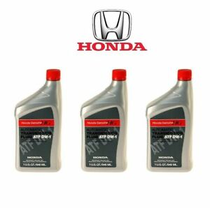 3 Pack Of Honda Atf Dw 1 Automatic Transmission Fluid Genuine 082009008 3 Qts