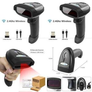 Netum Wireless Barcode Scanner 2 4ghz Handheld Cordless Bar code Reader Usb Rech