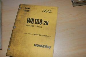 Komatsu Wb150 2n Backhoe Loader Parts Manual Book Catalog List Spare Index 2003