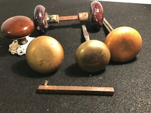 6 Vintage Old Door Knobs Selling For Parts Only