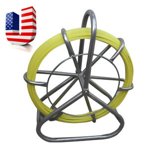 Fish Tape Fiberglass Wire Cable Running Rod Duct Rodder Fishtape Puller 6mm Usa
