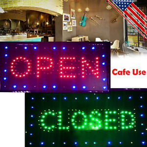 Usa Led Business Open Closed Sign on off Switch Bright Light Neon Cafe Bar