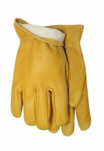 Midwest Gloves And Gear Smooth Grain Cowhide Leather Work Glove With Thinsula