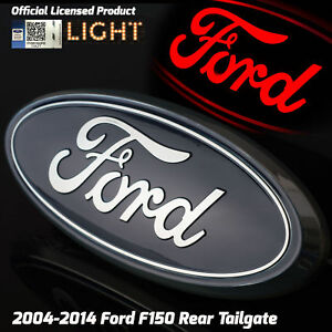 2004 2014 Ford F150 Truck Rear Tailgate 9 Emblem Chrome Licensed Led Light