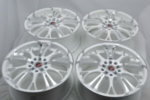 4 New Ddr R25 17x7 5x100 114 3 40mm White machined Wheels Rims