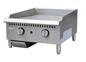 Hakka 24 Manual Griddle Gas Flat Grill Stove Countertop Nsf Thermostat Griddles
