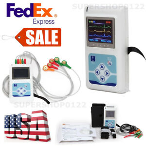 3 Leads 24hours Records Ecg Holter pc Software Dynamic Ecg Systems Usa Fedex