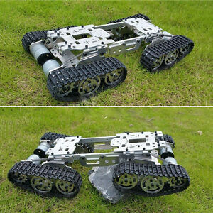 Metal Atv Track Robot Tank Chassis Suspension Obstacle Crossing Crawler Diy New