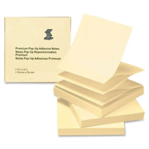 Myofficeinnovations Pop up Adhesive Note Pads 3 x3 100 Sh 24 pk Yellow 3254401