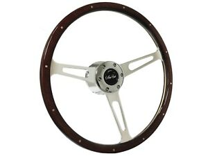 1970 1988 Monte Carlo S6 Classic Espresso Stained Wood Steering Wheel Kit