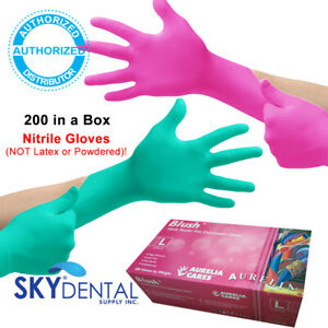 Aurelia Blush Nitrile Latex Free Medical Exam Gloves Pink Gloves 200 Count