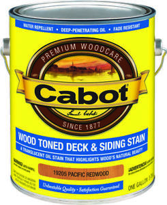 Cabot 19200 Wood Toned Deck And Siding Stain 1 Gal Container 250 350
