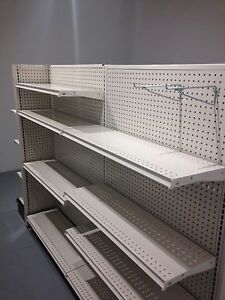 Like New Gondola Shelving 6ft Long Double Run With 2 End Caps