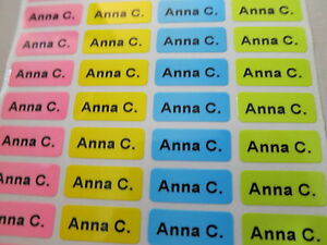 3200 Four Different Colors Personalized Name Stickers 0 9 X 2 2 Cm Labels Tags