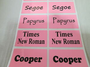 2400 Pink Glossy Personalized Waterproof Name Stickers Daycare School