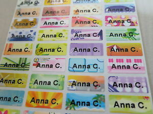 2400 Colorful Tiny Personalized Waterproof Name Stickers 0 9 X 2 2 Cm Labels Tag