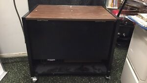 Acco Tub File Cabinet With Lock And Table Top And Shelf