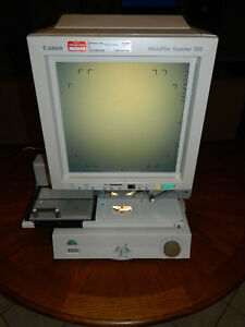 Canon Microfilm Scanner 300 M31022 With Zoom Lens And Micrfiche Carrier
