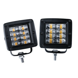 3in Cree Led Cube Pods Flood Work Light Tri Row Spot Off Road Jeep Truck Atv Ute