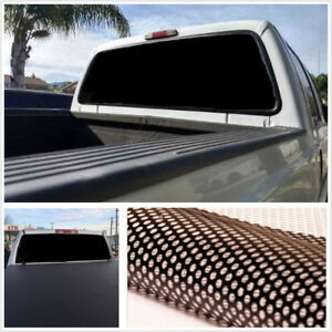 Waterproof Black Rear Window Perforated Decal Tint Graphic Sticker For Truck Van