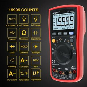 Aneng An870 19999 Counts True rms Auto Range Digital Multimeter Ncv Ac dc Meter