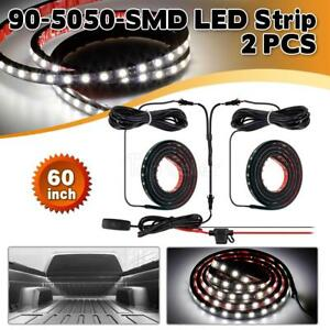 Running Board And Step Bar Led Light Kit 60 Long white Color pair 90 5050 smd