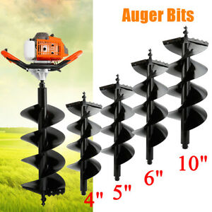 63cc Gas Post Hole Digger Fence Earth Digger 2 Man With 4 5 6 10 Auger Bits
