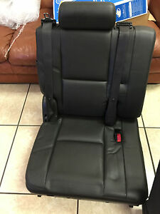 Third Row Seat Black Denali Escalade 07 14 Suburban Z71 Perforated