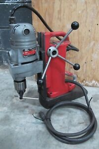 Milwaukee 4221 Electromagnetic Drill Press W milwaukee 4262 1 Drill Motor