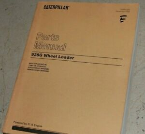 Cat Caterpillar 928g Front End Wheel Loader Parts Manual Book Catalog Oem 1996