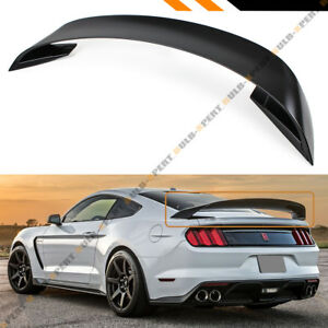For 2015 2017 Ford Mustang Gt S550 Gt350 Style Abs Matt Black Trunk Spoiler Wing