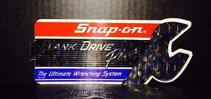 Vintage 1980s Snap On Tools Prism Flank Drive Plus Decal 8x3 Sticker