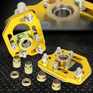 For 90 93 Ford Mustang Front Adjustable 3 0 Camber 2 0 Caster Plates Gold