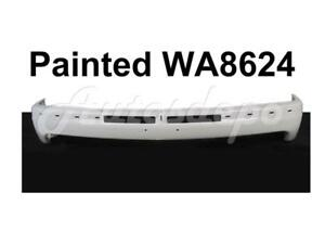 Painted Wa8624 Summit White Front Bumper Face Bar For Silverado 1999 2002