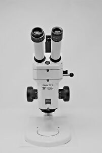 Zeiss Stemi Sv 6 Stereo Microscope 8x 50x With Camera Port